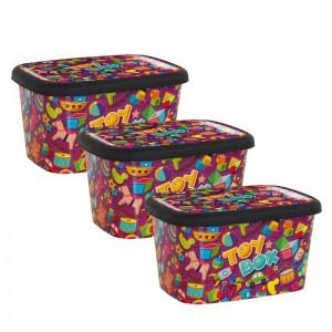 Plastična kutija toybox set 3 male kutije