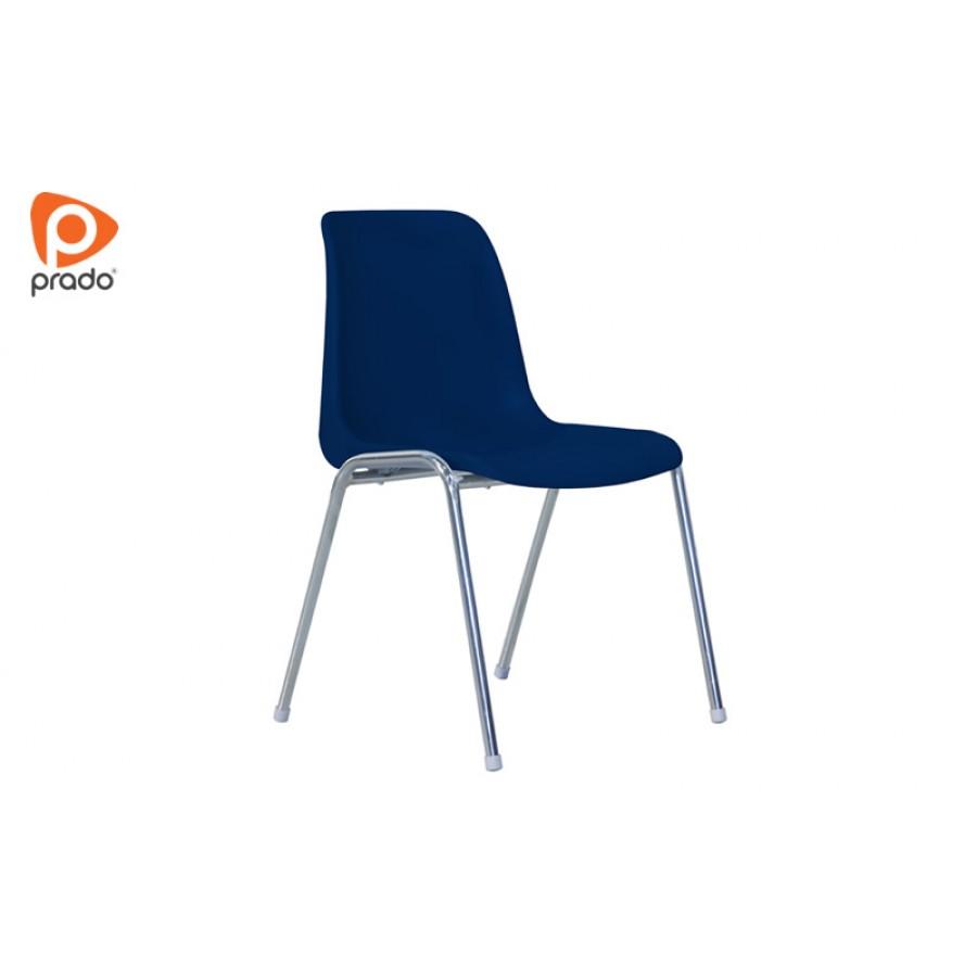 Plastična stolica sa kromiranim nogama / PRD-01