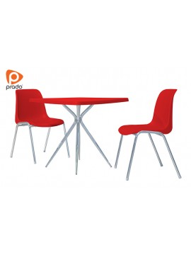 Plastični sto sa  kromiranim nogama / PRD-01