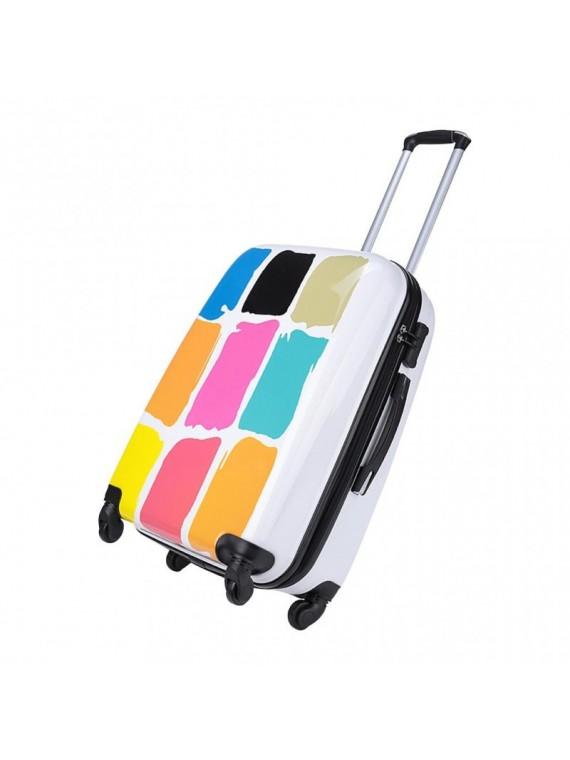 Putni kofer Malp Sert dezen kocke bijeli (set)