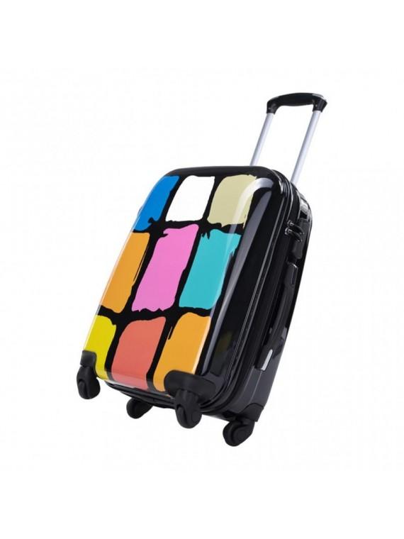 Putni kofer Malp Sert PC dezen kocke crni (set)