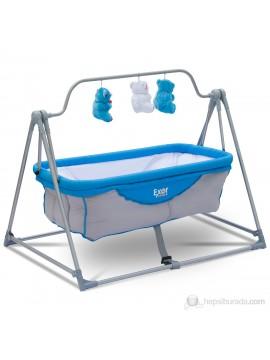 Exor krevetić za bebe (plava-siva)