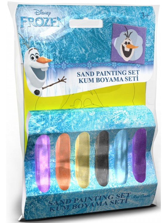 Disney mali set za bojenje pijeskom u boji