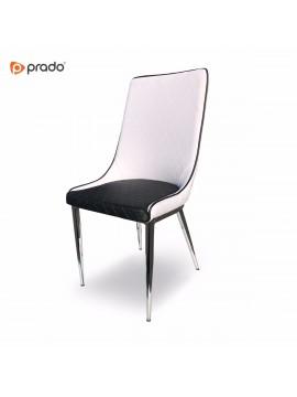 Stolica Lifos baklava crno-bijela