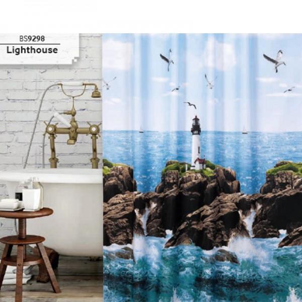 Zavjesa, paravan za kupatilo Light House 180x200