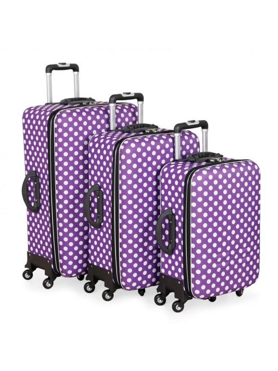Putni kofer Malp Puantiyeli Kabartma sa 6 točkića, set