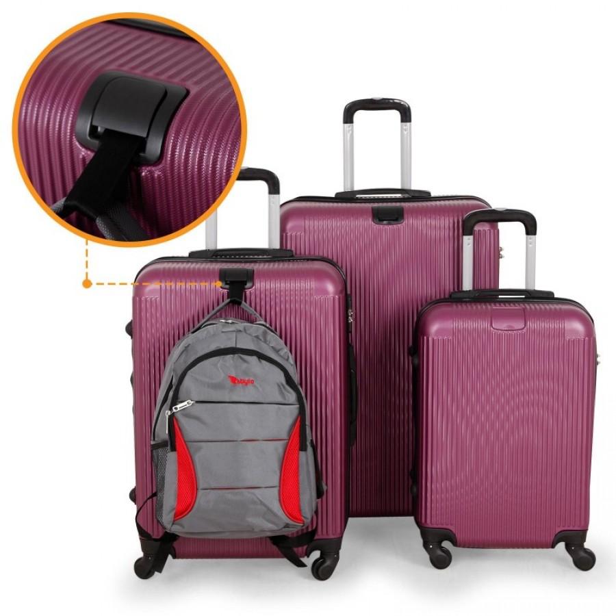Putni kofer ABS bordo set