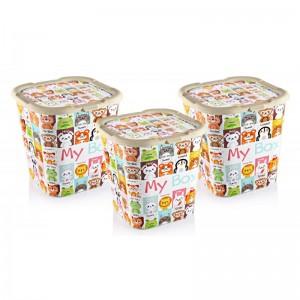 Plastične kutija Mybox, set 3 komada