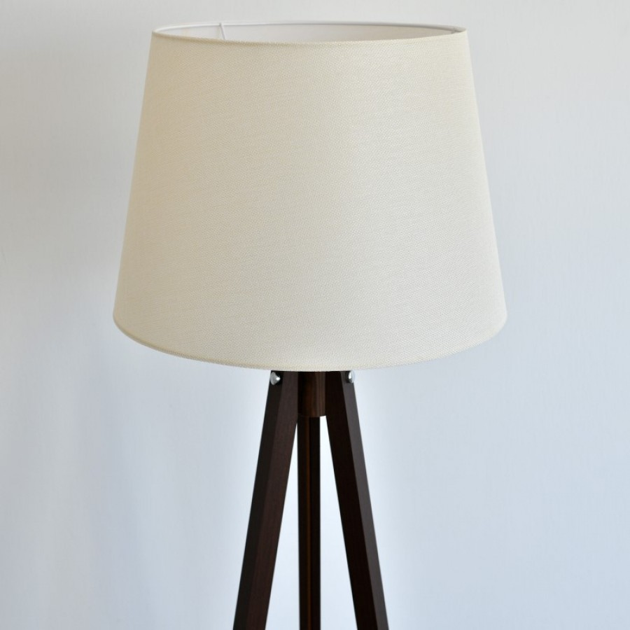 Podna lampa Deco 158 (bež/orah)