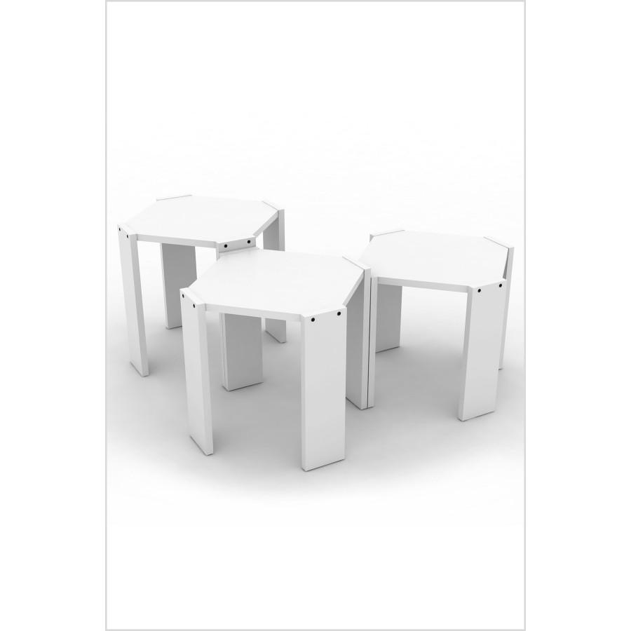 Set klub stolova Hansel (bijela)