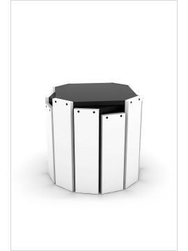 Set klub stolova Hansel (bijela-crna)
