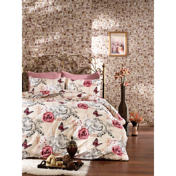Pamučna posteljina Carla pink 160x220