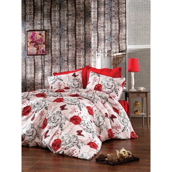 Pamučna posteljina Carla red 160x220