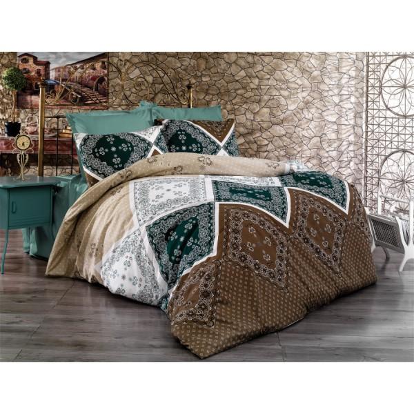 Pamučna posteljina Duru brown 160x220