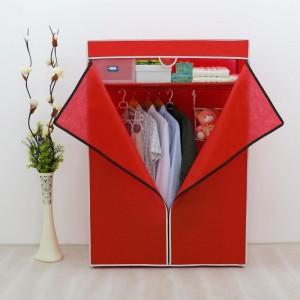 Platneni ormar za odjeću Basic crveni