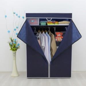 Platneni ormar za odjeću Basic tamno plavi