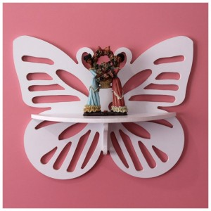 Dekorativna polica Leptir