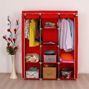Platneni ormar za odjeću sa dvije komore za vješanje C.Y. Askilikli crveni