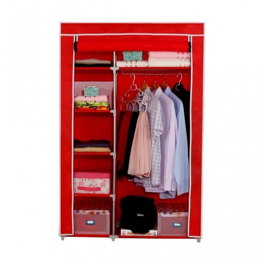 Platneni ormar za odjeću Elit (crvena)