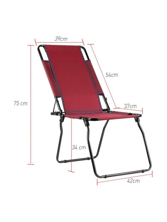 Preklopiva Stolica za piknik i kampovanje (crvena)