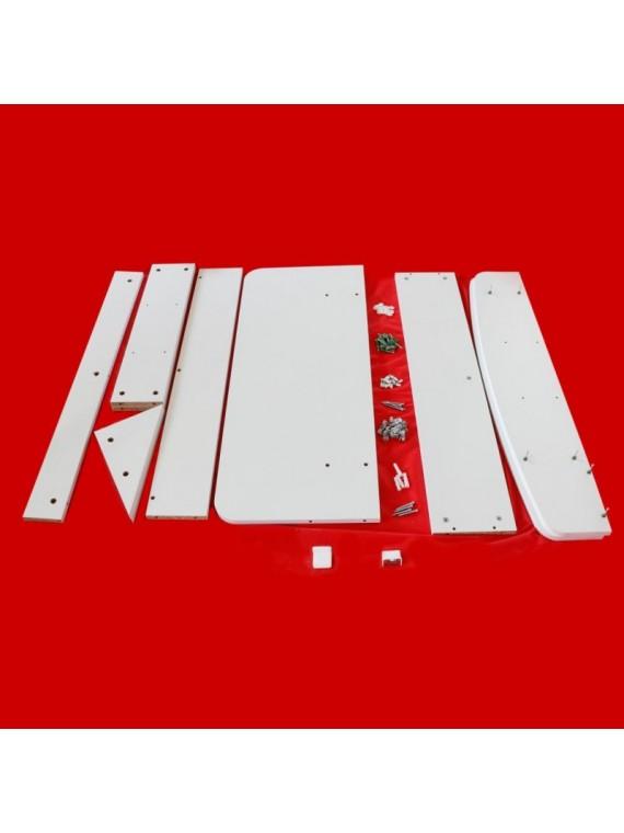Prado Viseći radni sto sa policama (bijela)