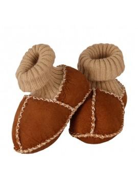Kućne patike za bebe od janjeće kože (smeđa)