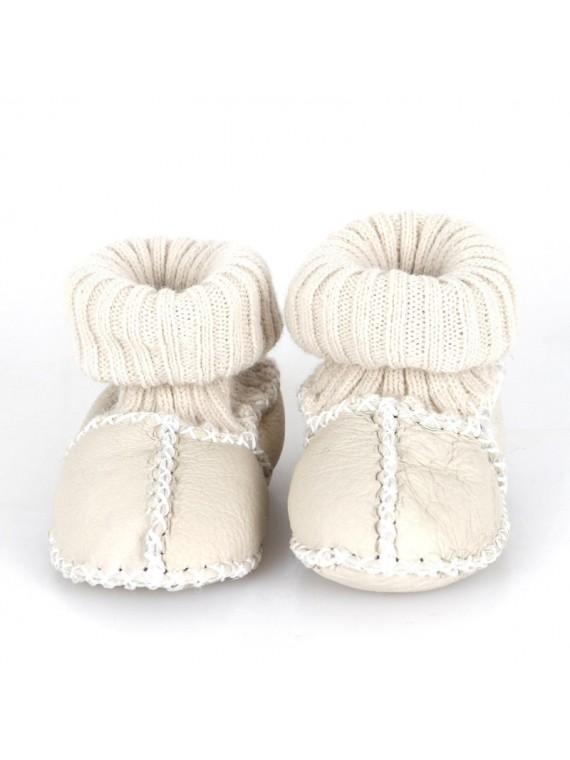 Kućne patike za bebe od janjeće kože ( bijela)