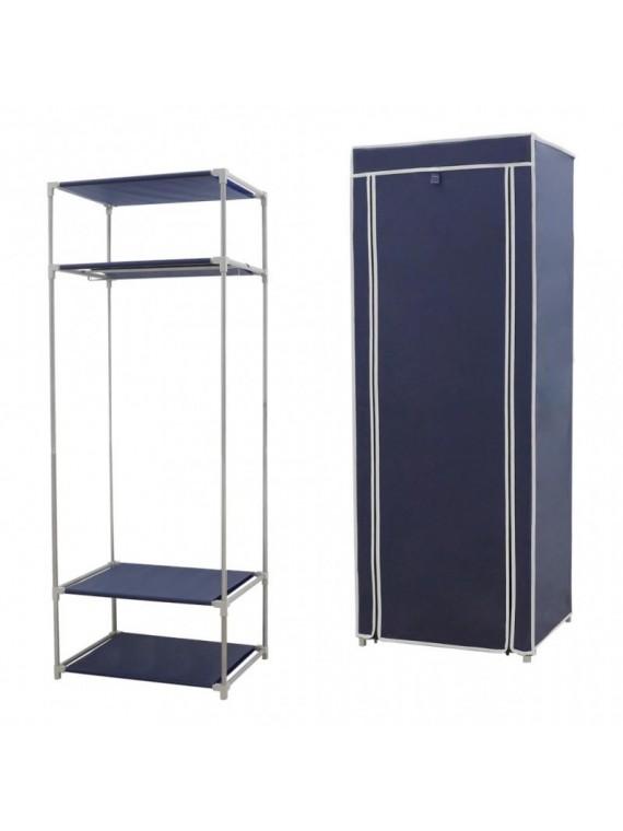 Platneni ormar za odjeću Simple (tamno plava)