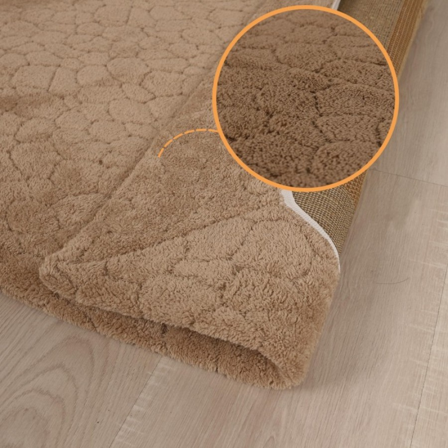 Prado Wellsoft Prekrivač za tepih CRACK smeđi 160x230