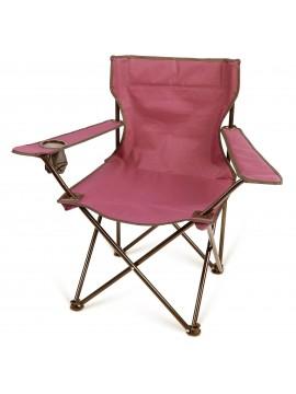Preklopiva stolica sa torbom crvena