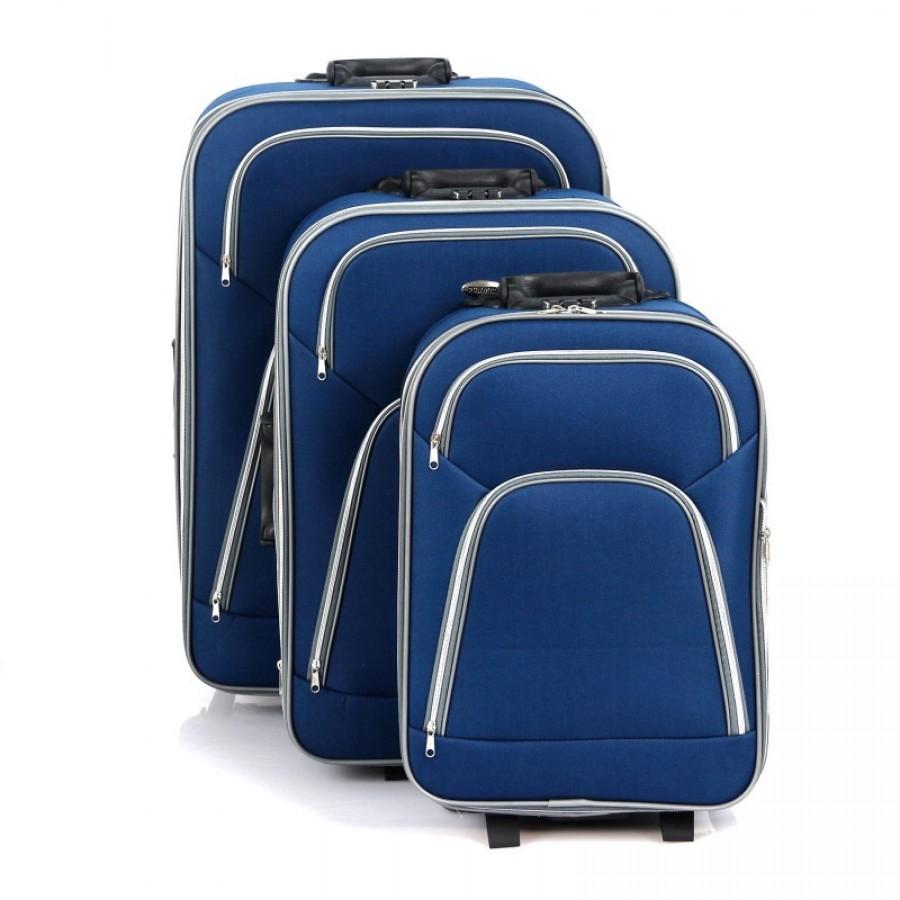 Putni kofer Rumman tamno plavi (set)