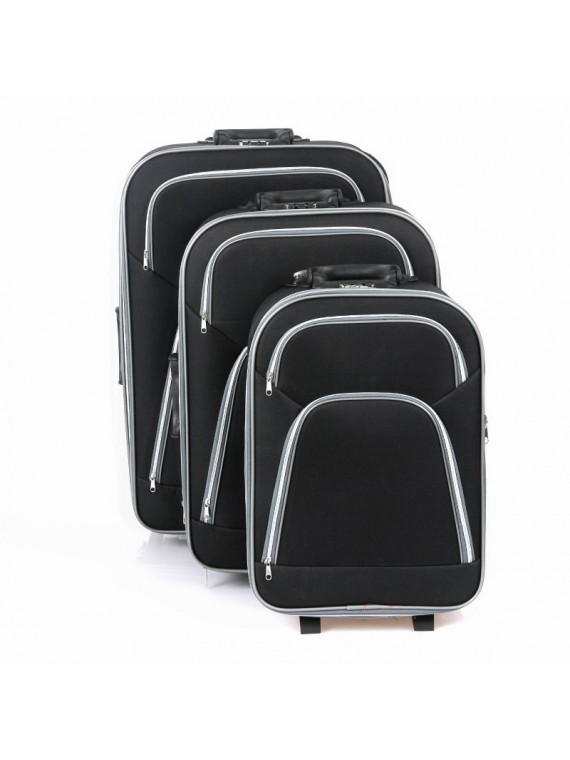 Putni kofer Rumman crni (set)