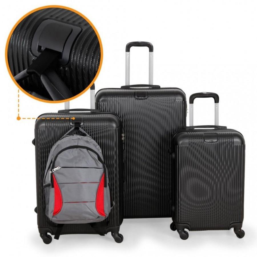 Putni kofer ABS tamno sivi/crni, set