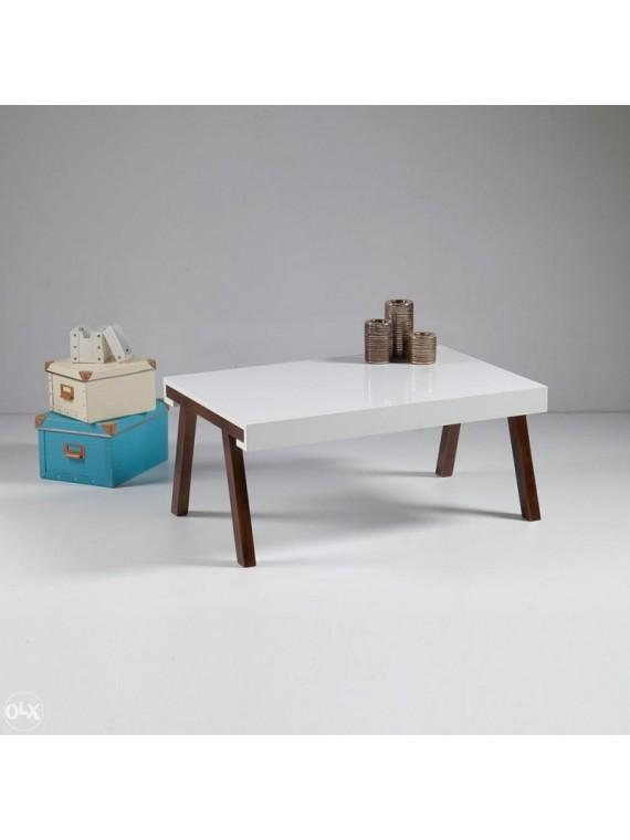 Prado klupski stol Flora bijela-boja oraha