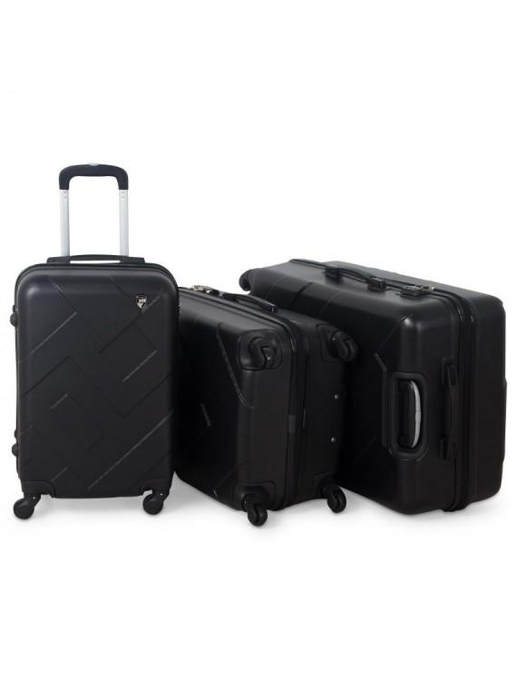 Putni kofer Malp ABS Citadel crni (set)