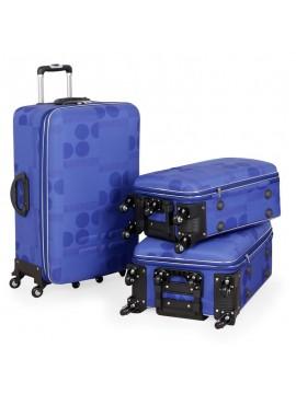 Putni kofer Malp kabartma sa 6 točkića, set plava