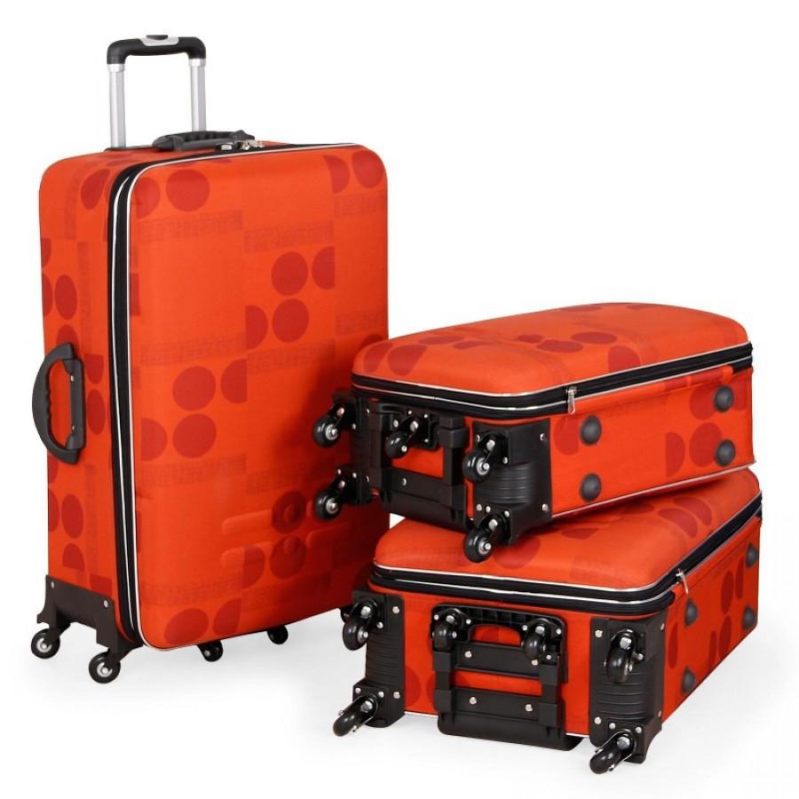 Putni kofer Malp kabartma sa 6 točkića, mali narandžasta