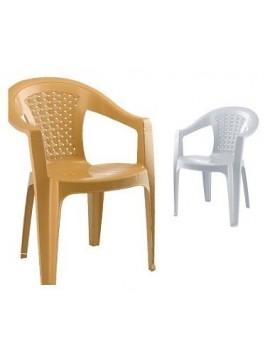 Plastična stolica Retro (bež)