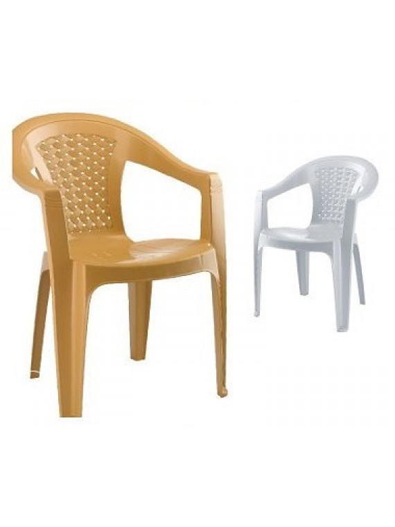 Plastična stolica Retro (bijela)