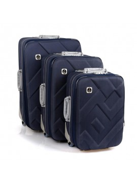 Putni kofer Malp Kabartma platno sa 2 točkića, set (tamno plava)