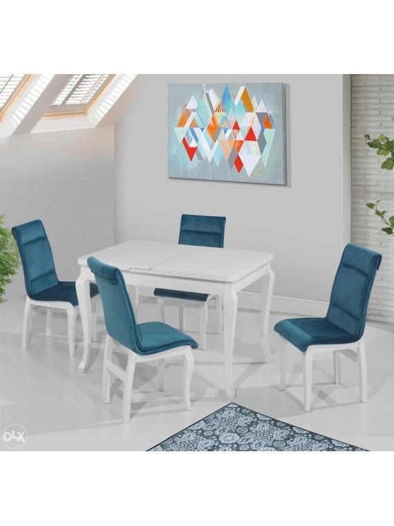 Trpezarijski stol Kapadokya bijeli (na razvlačenje)