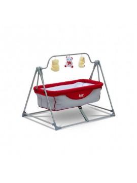 Exor Krevetić za bebe (crvena-siva)