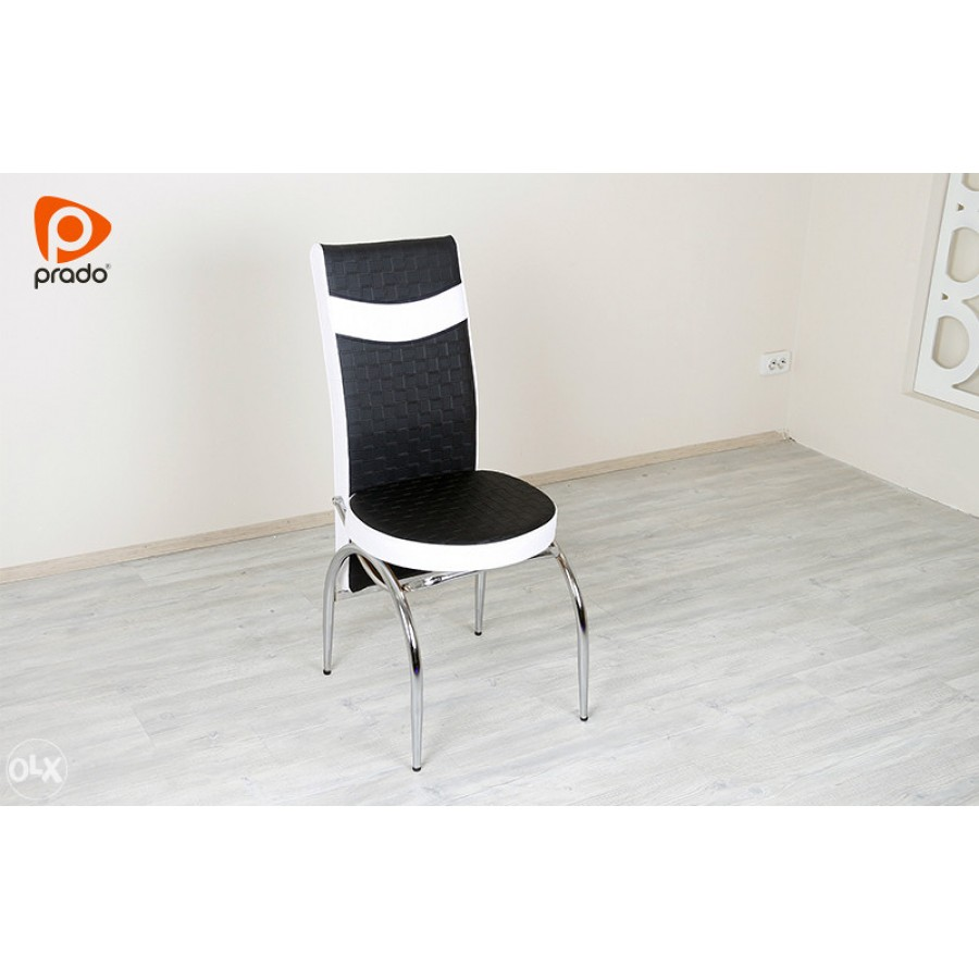 Stolica Mercan crno-bijela, eko koža