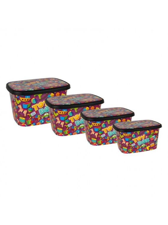 Platične kutije Toybox set od 4 komada