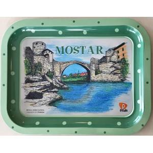 Metalna dekorativna tacna Mostar