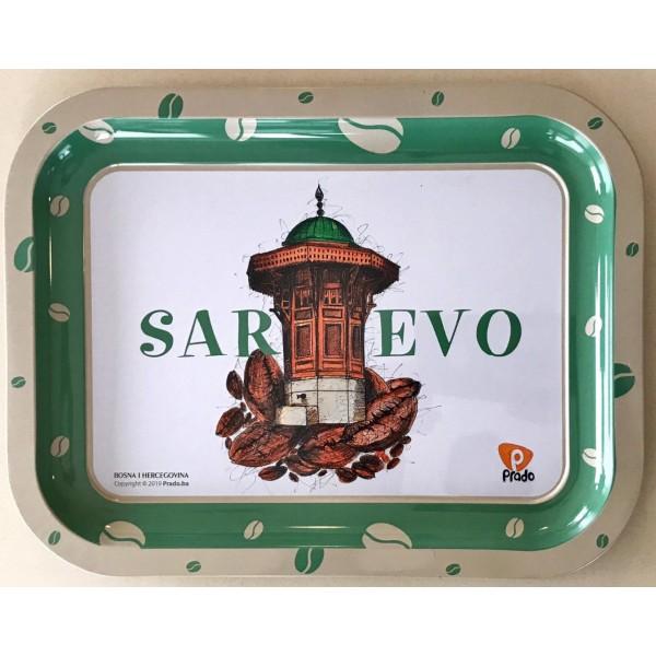 Metalna dekorativna tacna Sarajevo