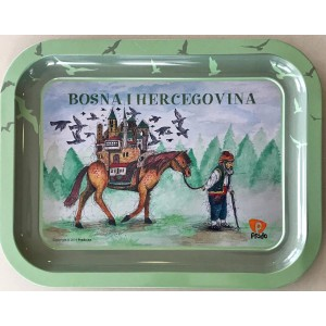 Metalna dekorativna tacna Bosna i Hercegovina
