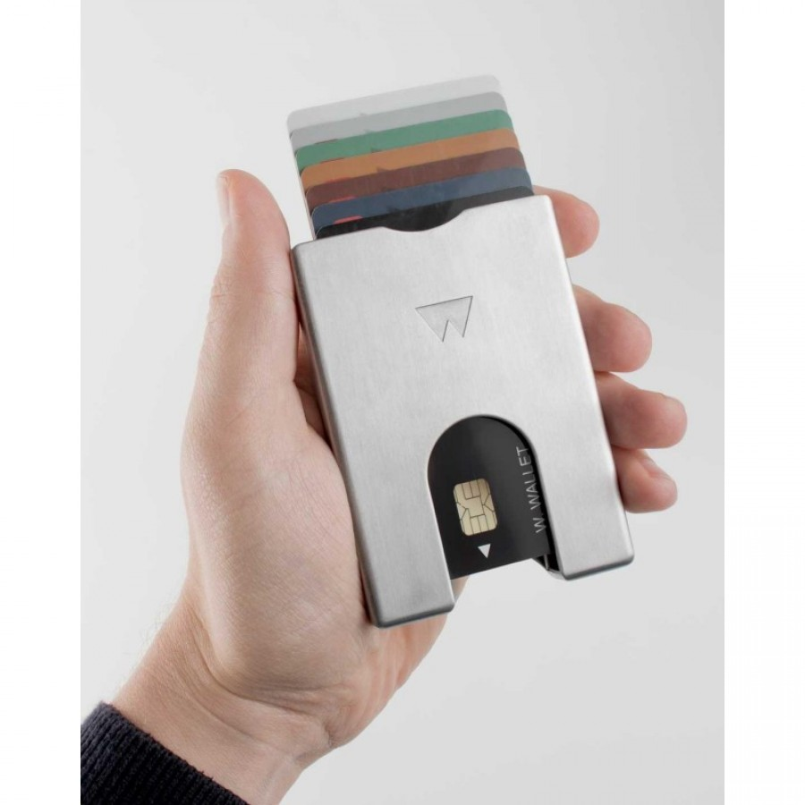 Novčanik Walter- Wallet Za Kartice Aluminijski Silver